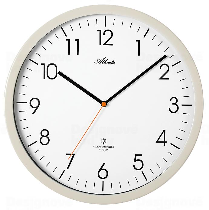 Atlanta Designové nástěnné hodiny AT4382-0 řízené signálem DCF 164949