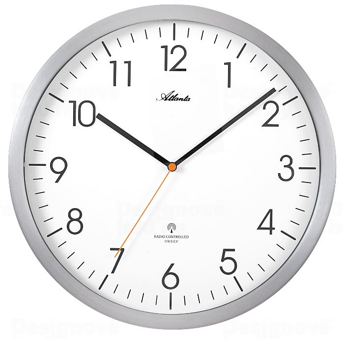 Atlanta Designové nástěnné hodiny AT4382-4 řízené signálem DCF 164945