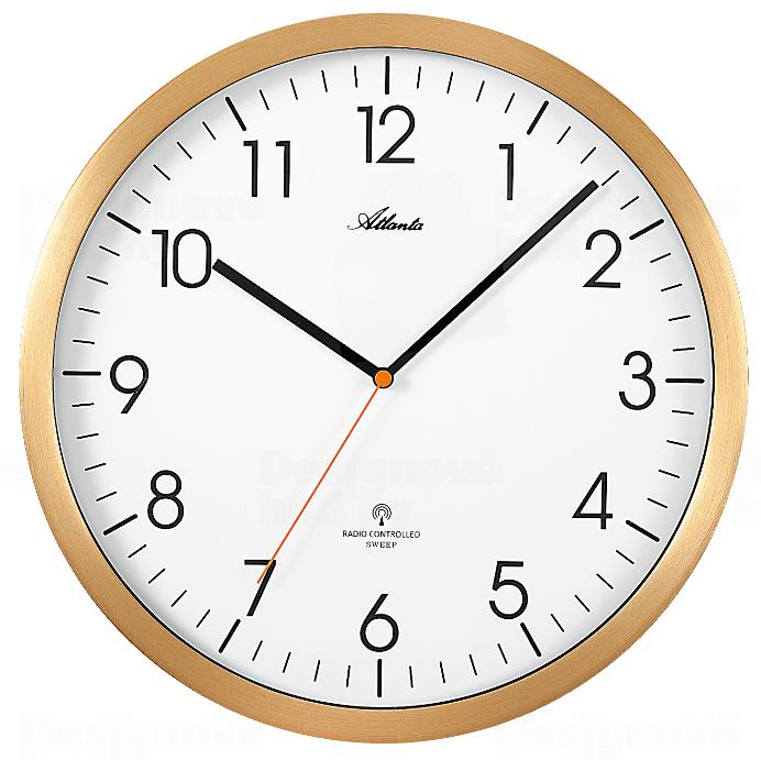 Atlanta Designové nástěnné hodiny AT4382-9 řízené signálem DCF 164947