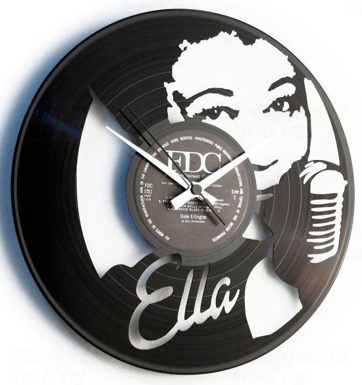Designové nástěnné hodiny Discoclock 092 Ella Fitzgerald 30cm 165390
