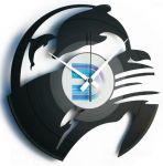 Designové nástěnné hodiny Discoclock 093 Delfíni 30cm 165391