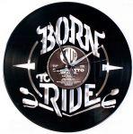 Designové nástěnné hodiny Discoclock 099 Born to ride 30cm 165365