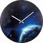 Designové nástěnné luminiscenční hodiny Nextime 3176 Globe 35cm 165378