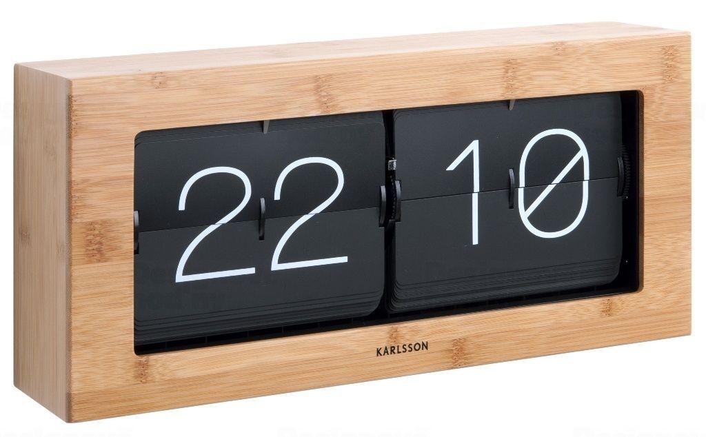 Designové nástěnné/stolní překlápěcí hodiny 5642WD Karlsson 37cm 165356