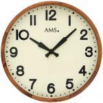 Dřevěné nástěnné hodiny AMS 9535 165128