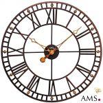Kovové nástěnné hodiny AMS 9537 165127