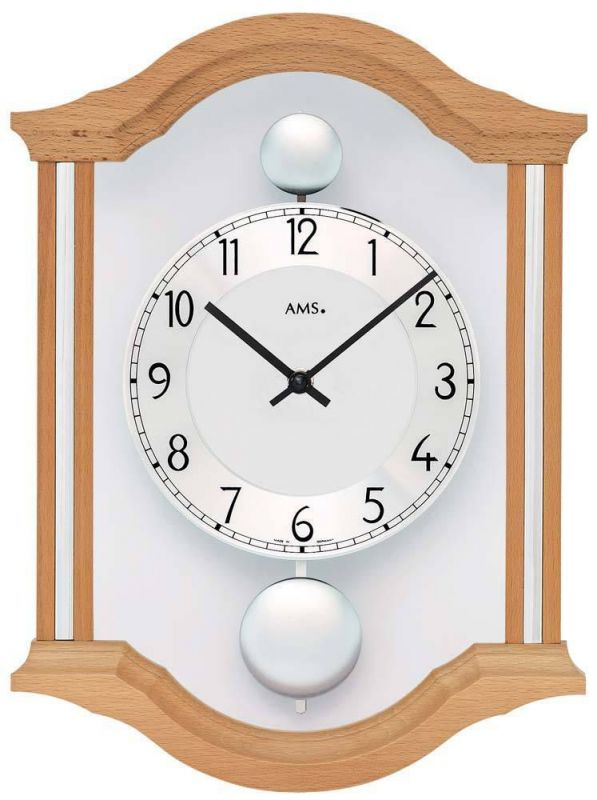 Kyvadlové nástěnné hodiny AMS 7447/18 165154
