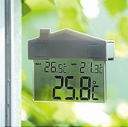 Hodiny na zeď Venkovní okenní teploměr Domeček 164975 Designové hodiny