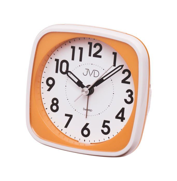 Hodiny na zeď Analogový budík JVD sweep SRP838.6 165458 Designové hodiny