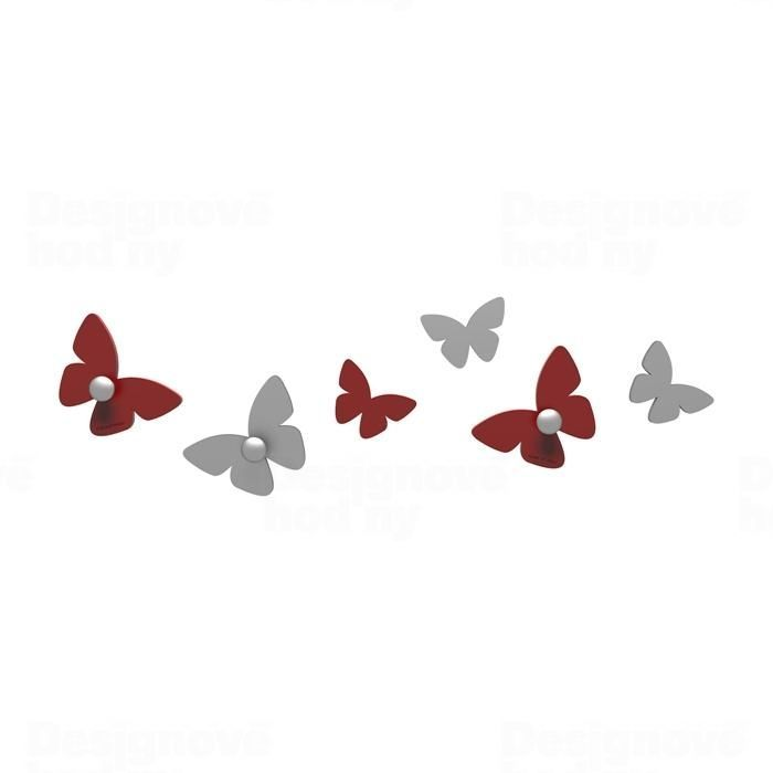 Designové háčky na stěnu 50-13-2 CalleaDesign (více barev) Barva rubínová tmavě červená - 65 165560
