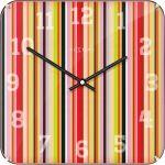 Designové nástěnné hodiny 3169 Nextime Smithy Dome Square 35cm 165403