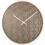 Designové nástěnné hodiny 3194wi Nextime Bella Mirror 50cm 165424