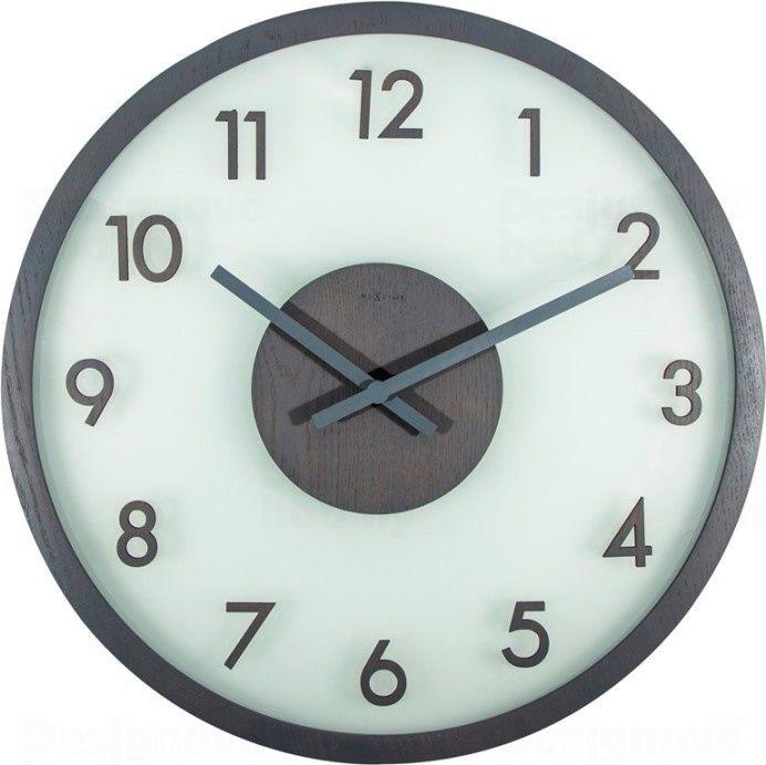NeXtime Designové nástěnné hodiny 3205gs Nextime Frosted Wood 50cm 165409