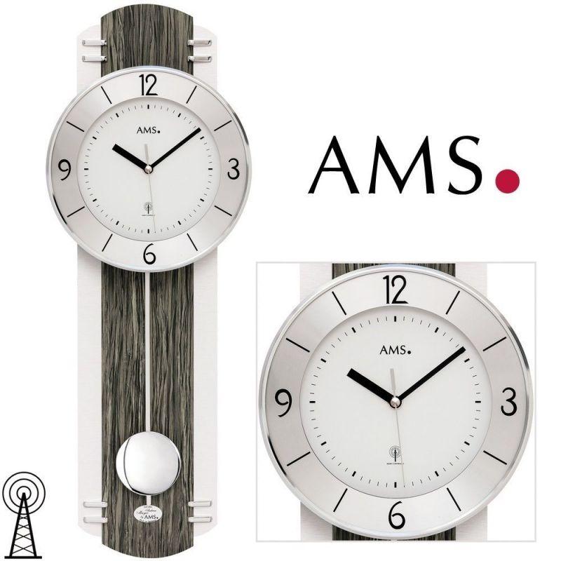 Hodiny na zeď Kyvadlové hodiny AMS 5294 165506 Designové hodiny