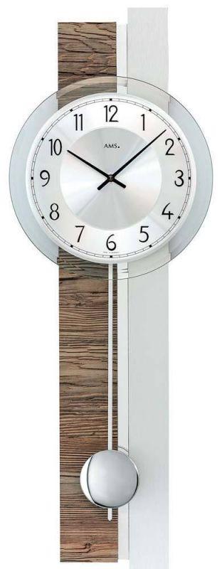 Hodiny na zeď Kyvadlové hodiny nástěnné AMS 7439 165510 Designové hodiny