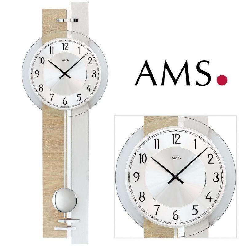 Hodiny na zeď Nástěnné hodiny s kyvadlem AMS 7441 165509 Designové hodiny