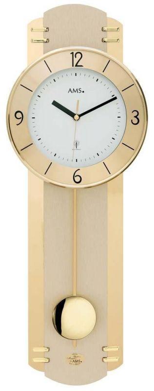 Hodiny na zeď Rádiem řízené nástěnné hodiny kyvadlové AMS 5293 165503 Designové hodiny
