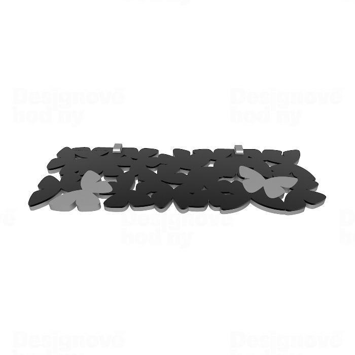 Designová nástěnná police 50-16-1 CalleaDesign 60cm (více barev) Barva černá klasik - 5 165594