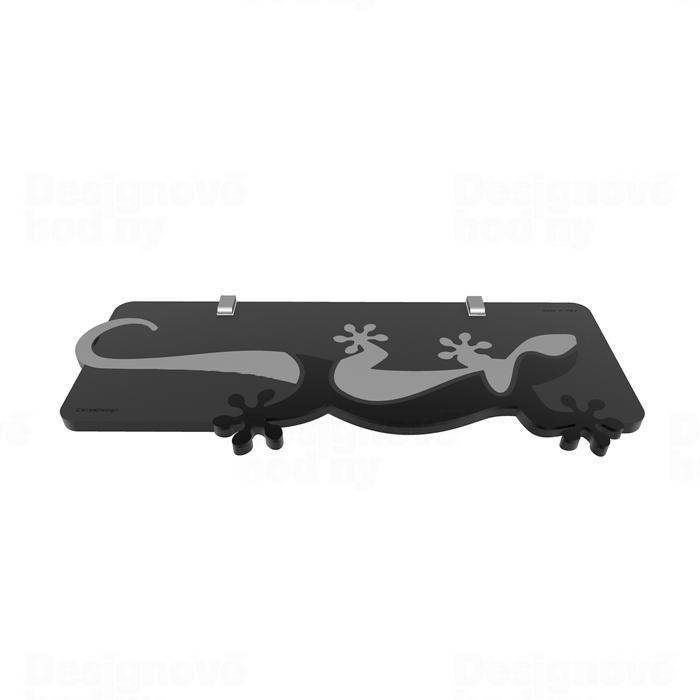 Designová nástěnná police 54-16-1 CalleaDesign 60cm (více barev) Barva černá klasik - 5 165634