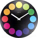 Designové nástěnné hodiny 3167 Nextime Dots Dome 35cm 165921