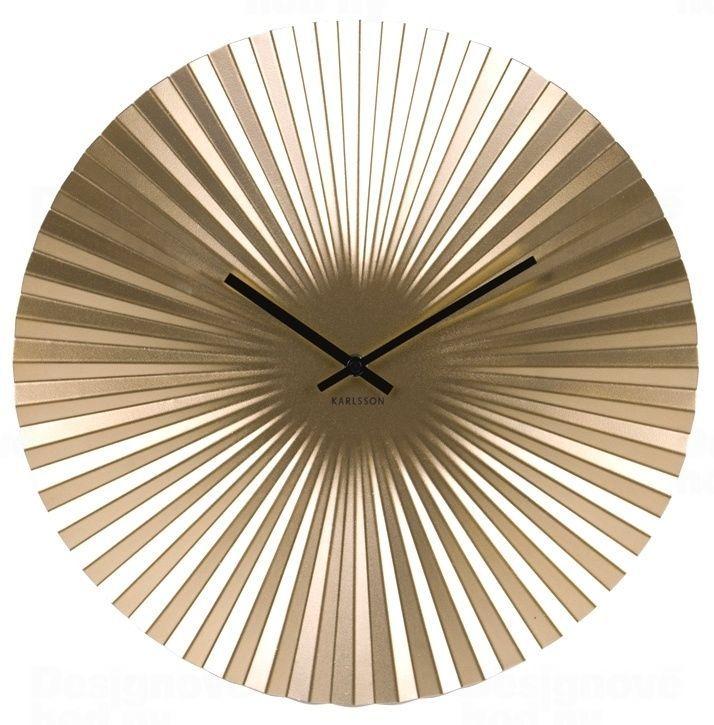 Designové nástěnné hodiny 5658GD Karlsson 50cm 165834