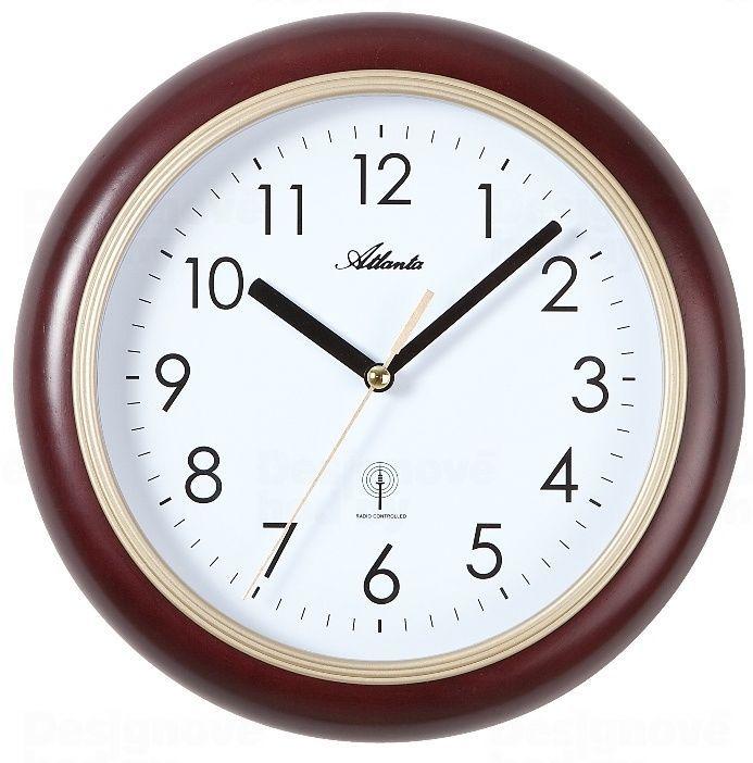 Atlanta Designové nástěnné hodiny AT4323-20 řízené signálem DCF 165798