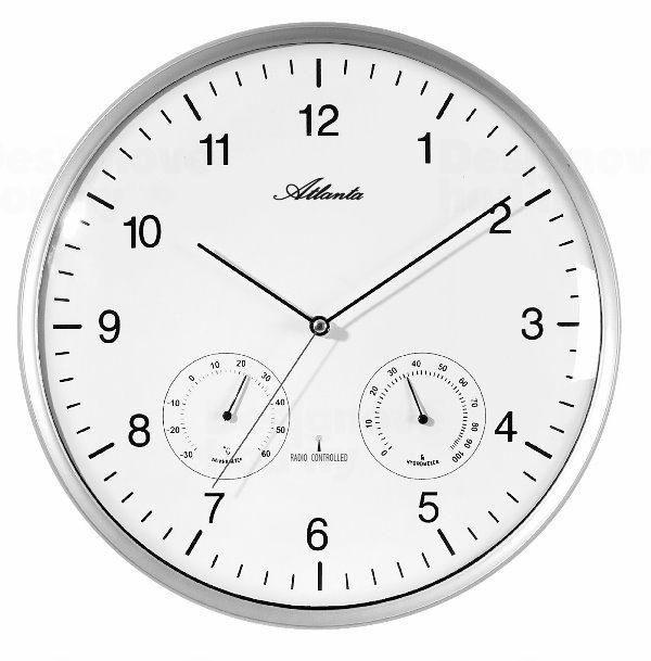 Atlanta Designové nástěnné hodiny AT4363-19 řízené signálem DCF 165788