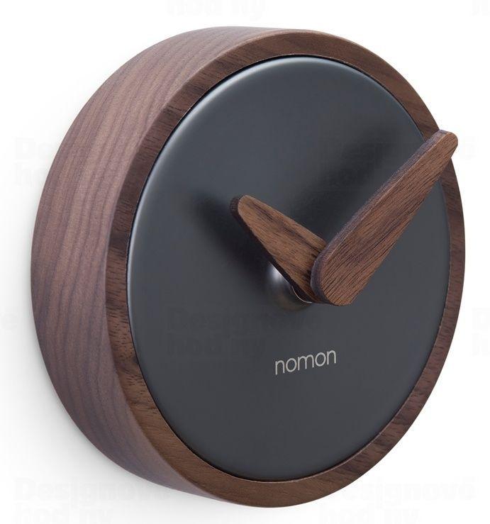 Designové nástěnné hodiny Nomon Atomo Graphite 10cm 165905