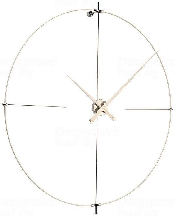 Designové nástěnné hodiny Nomon Bilbao L bílé 110cm 165908