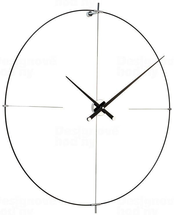 Designové nástěnné hodiny Nomon Bilbao L černé 110cm 165910 Hodiny