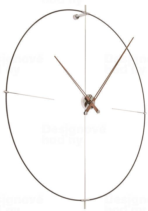 Designové nástěnné hodiny Nomon Bilbao N černé 110cm 165911 Hodiny