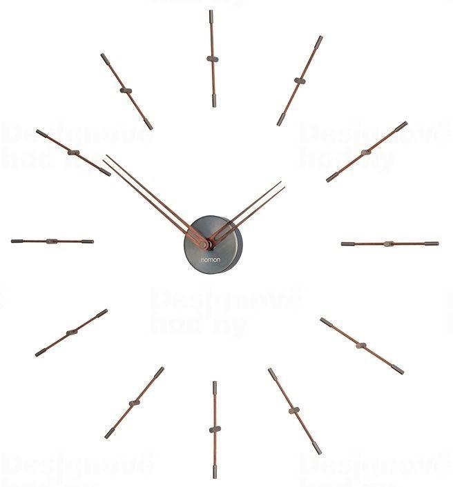 Designové nástěnné hodiny Nomon Merlin Graphite Small 70cm 165912