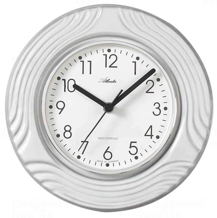 Atlanta Designové nástěnné keramické hodiny AT6021 řízené signálem DCF 165803
