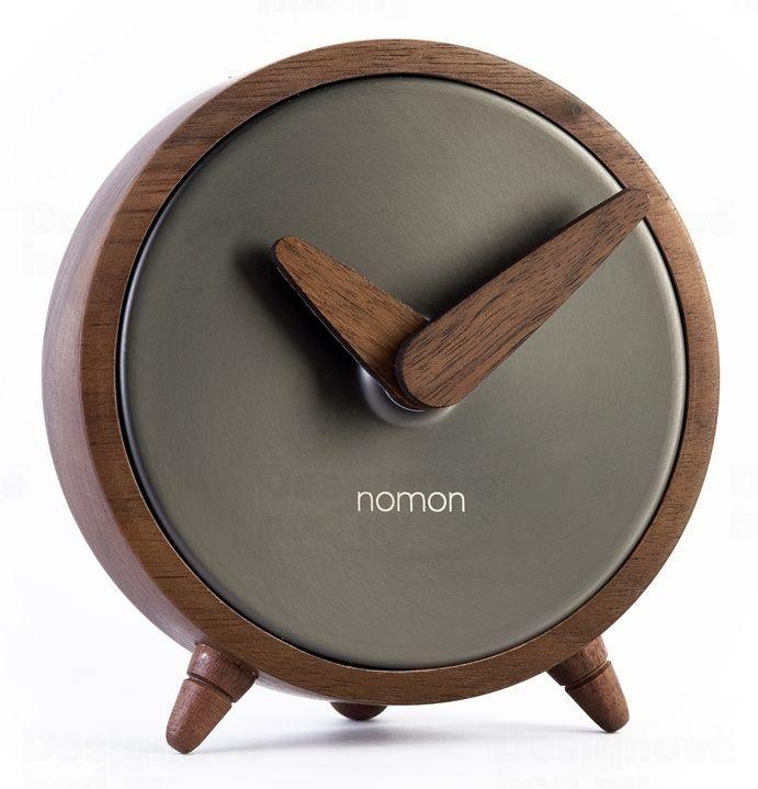 Designové stolní hodiny Nomon Atomo Graphite 10cm 165907
