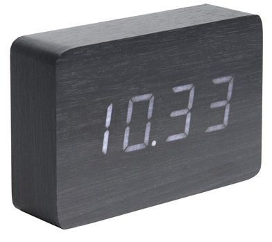 Designový LED budík - hodiny 5653BK Karlsson 15cm 165865