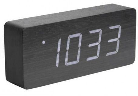 Designový LED budík - hodiny 5654BK Karlsson 21cm 165867