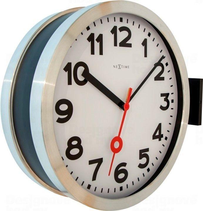 NeXtime Oboustranné nástěnné hodiny 3217 Nextime Double Station 38cm 165843