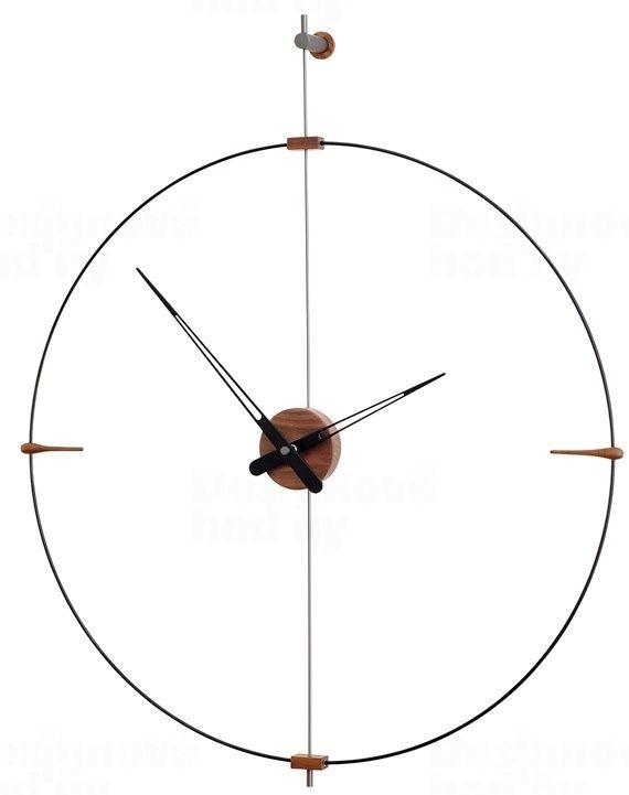 Designové nástěnné hodiny Nomon Bilbao Graphite Small 92cm 165922