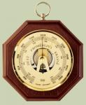 Mechanický barometr osmihran dřevo 8002.b1 Německo 165929