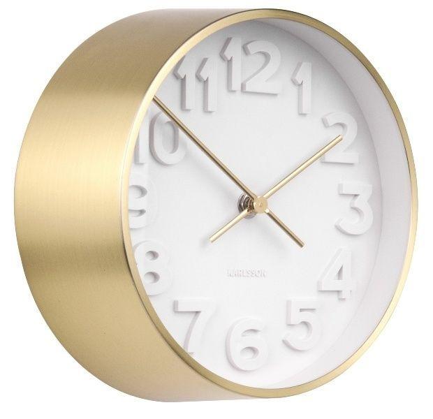 Designové nástěnné hodiny 5692GD Karlsson 22cm 166050 Hodiny