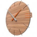 Hodiny na zeď Designové hodiny 10-019n natur CalleaDesign Mike 42cm (více dekorů dýhy) Design bělený dub - 81 164772 Designové hodiny