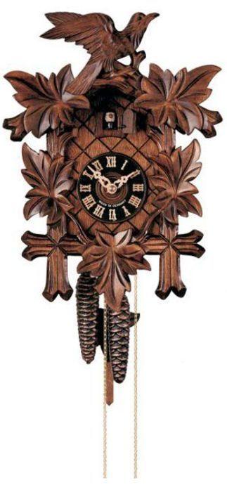 Hodiny na zeď No. 100/3 - Ručně řezané kukačky Hönes s jednodenním strojkem 166319 Designové hodiny