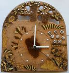 Nástěnné keramické hodiny stromy, kytky 154278