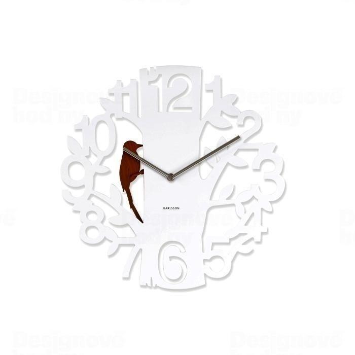 Designové nástěnné hodiny 5393WH Karlsson 42cm 161114 Hodiny
