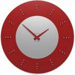 Hodiny na zeď Designové hodiny 10-210 CalleaDesign Vivyan Swarovski 60cm (více barevných verzí) Barva růžový oblak (tmavší) - 33 164105 Designové hodiny