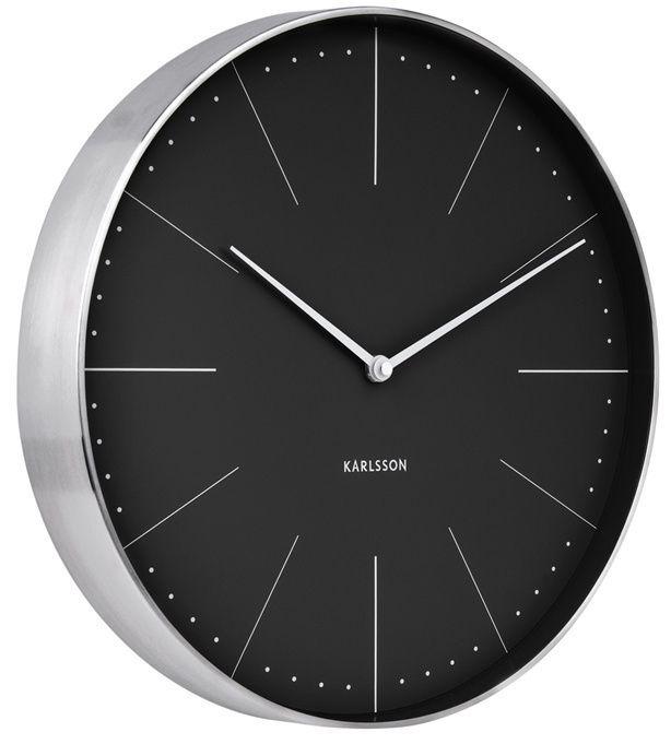 Designové nástěnné hodiny 5681BK Karlsson 38cm 166350 Hodiny