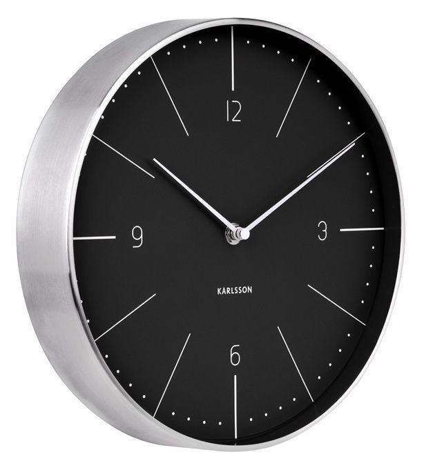 Designové nástěnné hodiny 5682BK Karlsson 28cm 166348 Hodiny