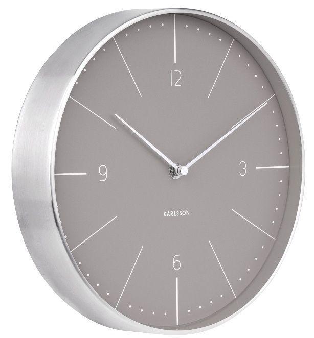 Designové nástěnné hodiny 5682GY Karlsson 28cm 166349 Hodiny