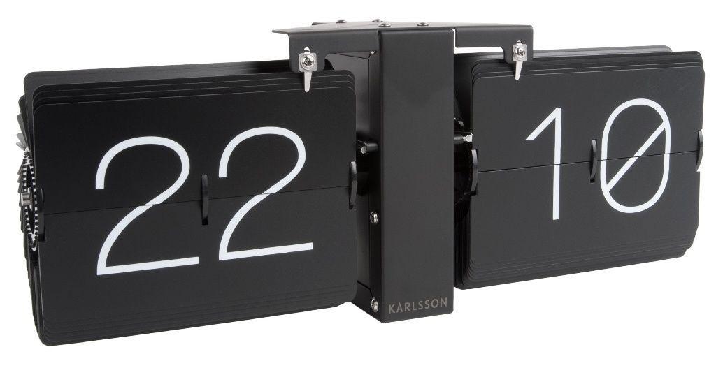Hodiny na zeď Designové překlápěcí hodiny KA5602BK Karlsson 36cm 166345 NeXtime Designové hodiny