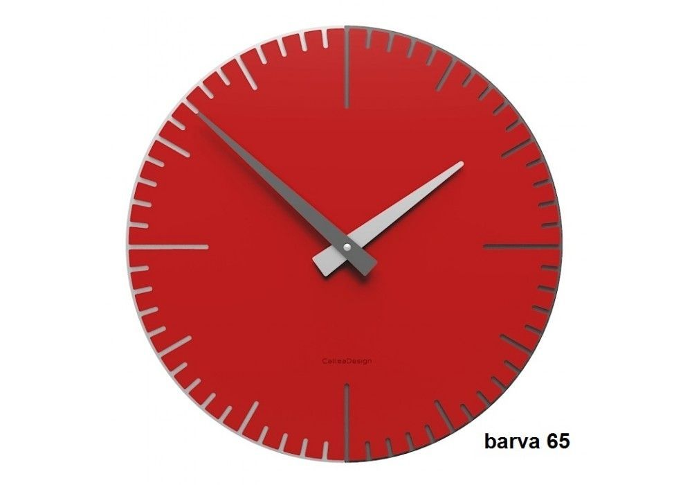 Designové hodiny 10-025 CalleaDesign Exacto 36cm (více barevných verzí) Barva rubínová tmavě červená - 65 166495 Hodiny